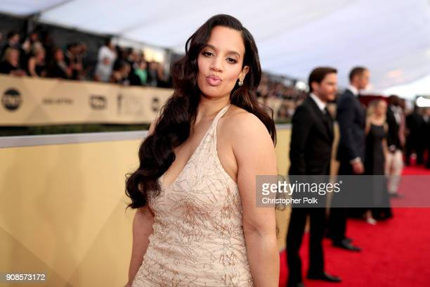Actor Dascha Polanco attends the 24th Annual Screen Actors Guild Awards at The Shrine Auditorium on January 21 2018 in Los Angeles California...