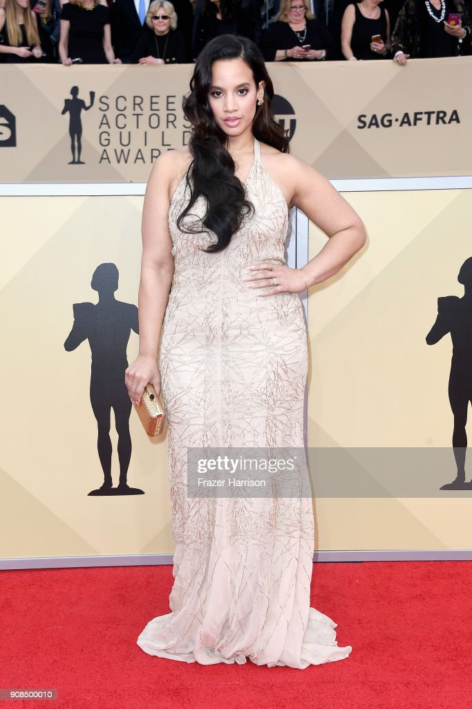 Actor Dascha Polanco attends the 24th Annual Screen ActorsGuild Awards at The Shrine Auditorium on January 21, 2018 in Los Angeles, California.