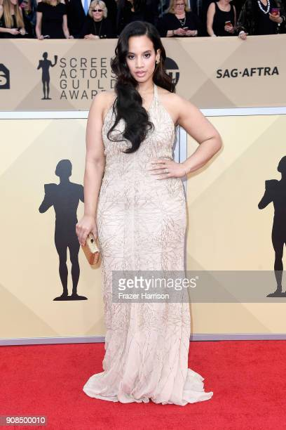 Actor Dascha Polanco attends the 24th Annual Screen ActorsGuild Awards at The Shrine Auditorium on January 21 2018 in Los Angeles California