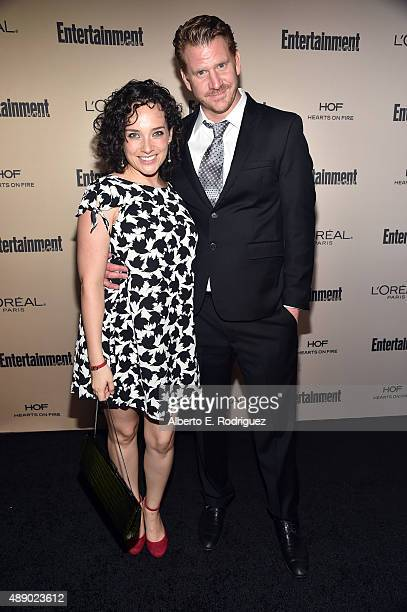 Actor Dash Mihok and Valeria Mason attend the 2015 Entertainment Weekly Pre-Emmy Party at Fig & Olive Melrose Place on September 18, 2015 in West...