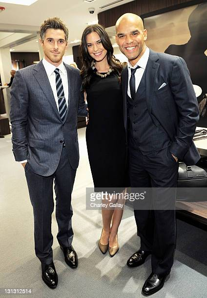 Actor Dave Annabel actress Odette Yustman and actor Amaury Nolasco attend the Ermenegildo Zegna and Vanity Fair Event to Benefit the Art of Elysium's...