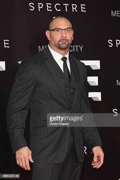 Actor Dave Bautista attends the 'Spectre' Mexico City premiere at Auditorio Nacional on November 2 2015 in Mexico City Mexico