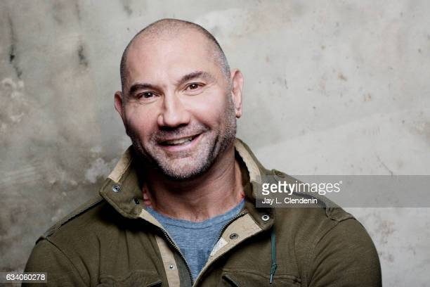 Actor Dave Bautista from the film 'Bushwick' is photographed at the 2017 Sundance Film Festival for Los Angeles Times on January 21 2017 in Park City...