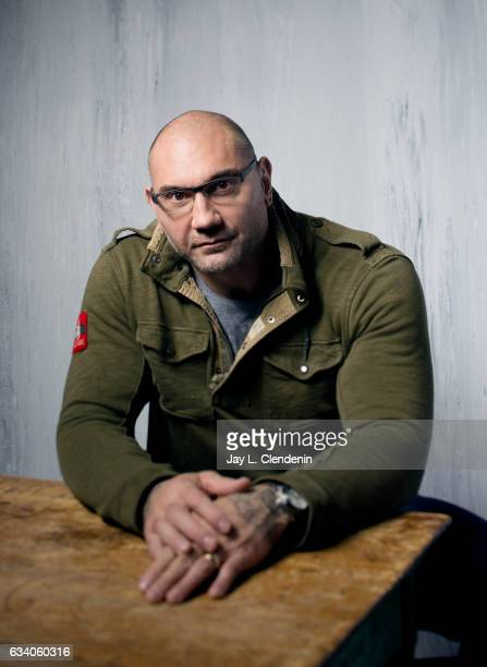 Actor Dave Bautista from the film Bushwick is photographed at the 2017 Sundance Film Festival for Los Angeles Times on January 21 2017 in Park City...