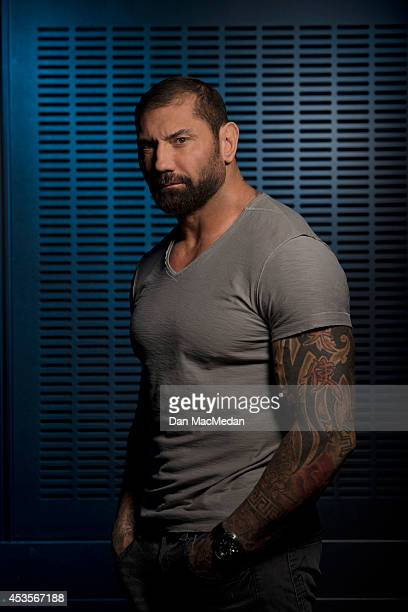 Actor Dave Bautista is photographed for USA Today on July 21 2014 in Los Angeles California PUBLISHED IMAGE