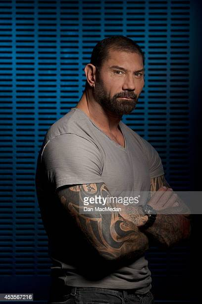 Actor Dave Bautista is photographed for USA Today on July 21 2014 in Los Angeles California