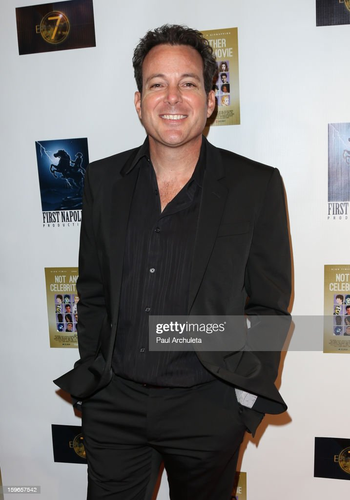 Actor Dave Burleigh attends the premiere for 'Not Another Celebrity Movie' at Pacific Design Center on January 17, 2013 in West Hollywood, California.