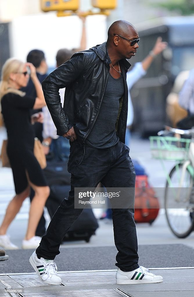 Actor Dave Chappelle is sighted in Soho on September 12, 2013 in New York City.