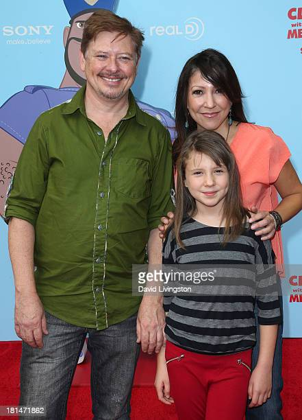 Actor Dave Foley Alina Foley and Chrissy Guerrero attend the premiere of Columbia Pictures and Sony Pictures Animation's 'Cloudy with a Chance of...