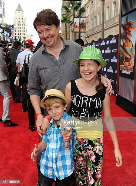 Actor Dave Foley Alina Foley and Dorian Foley attend the premiere of Disney's 'Planes Fire Rescue' at the El Capitan Theatre on July 15 2014 in...