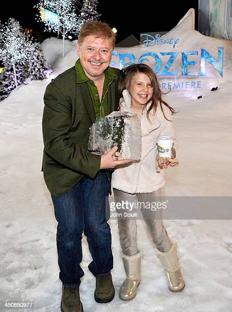Actor Dave Foley and Alina Foley attend The World Premiere of Walt Disney Animation Studios' 'Frozen' at El Capitan Theatre on November 19 2013 in...