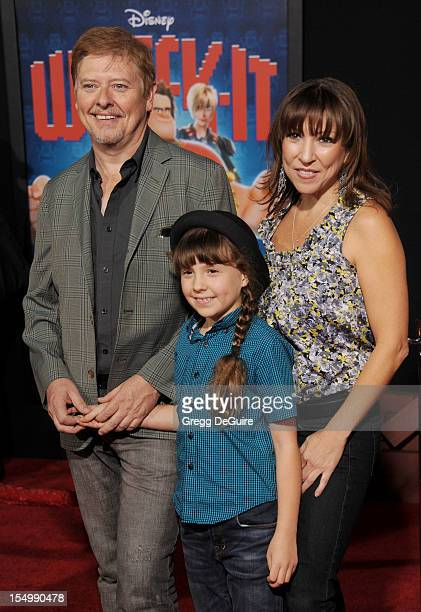 Actor Dave Foley and family arrive at the Los Angeles premiere of WreckIt Ralph at the El Capitan Theatre on October 29 2012 in Hollywood California
