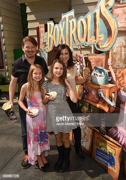 Actor Dave Foley and his family attend the premiere of Focus Features' The Boxtrolls PreParty at Universal CityWalk on September 21 2014 in Universal...