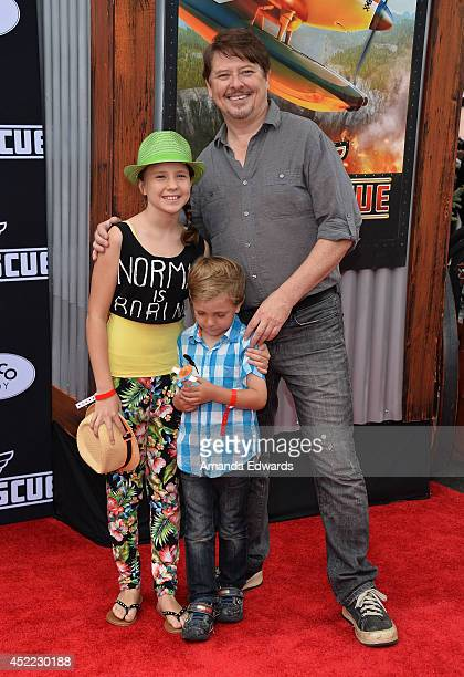 Actor Dave Foley arrives at the Los Angeles premiere of Disney's 'Planes Fire Rescue' at the El Capitan Theatre on July 15 2014 in Hollywood...