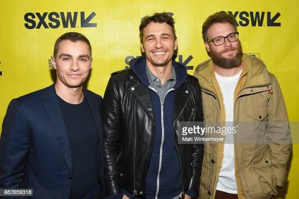 Actor Dave Franco actor/director James Franco and actor Seth Rogen attend 'The Disaster Artist' premiere 2017 SXSW Conference and Festivals on March...