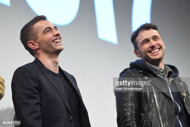 Actor Dave Franco and actor/director James Franco speak onstage during the 'The Disaster Artist' premiere 2017 SXSW Conference and Festivals on March...