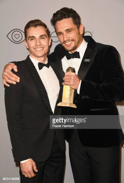 Actor Dave Franco and actor/filmmaker James Franco winner of the award for Best Performance by an Actor in a Motion Picture for 'The Disaster Artist'...