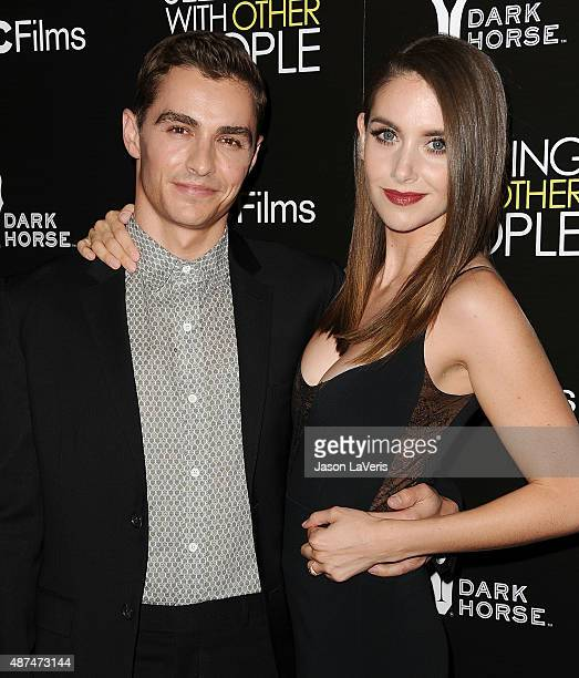 Actor Dave Franco and actress Alison Brie attend the premiere of 'Sleeping with Other People' at ArcLight Cinemas on September 9 2015 in Hollywood...