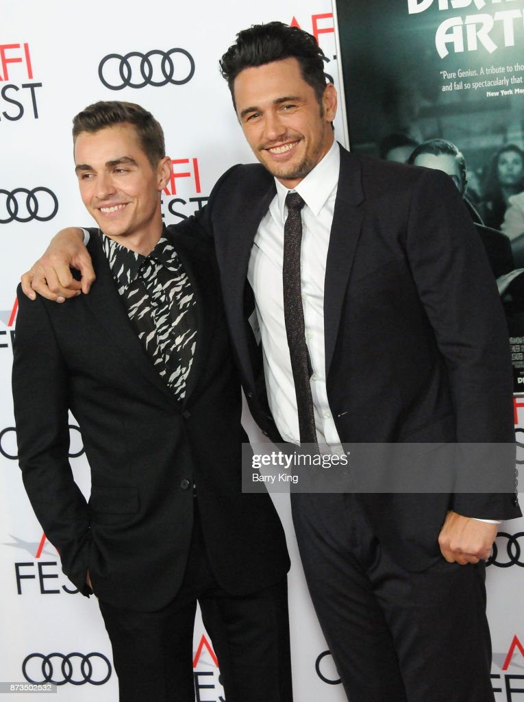 Actor Dave Franco and brother director/actor James Franco attend AFI FEST 2017 Presented By Audi - Screening Of 'The Disaster Artist' at TCL Chinese Theatre on November 12, 2017 in Hollywood, California.