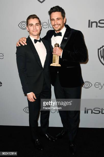 Actor Dave Franco and filmmakeractor James Franco attend the 19th Annual PostGolden Globes Party hosted by Warner Bros Pictures and InStyle at The...