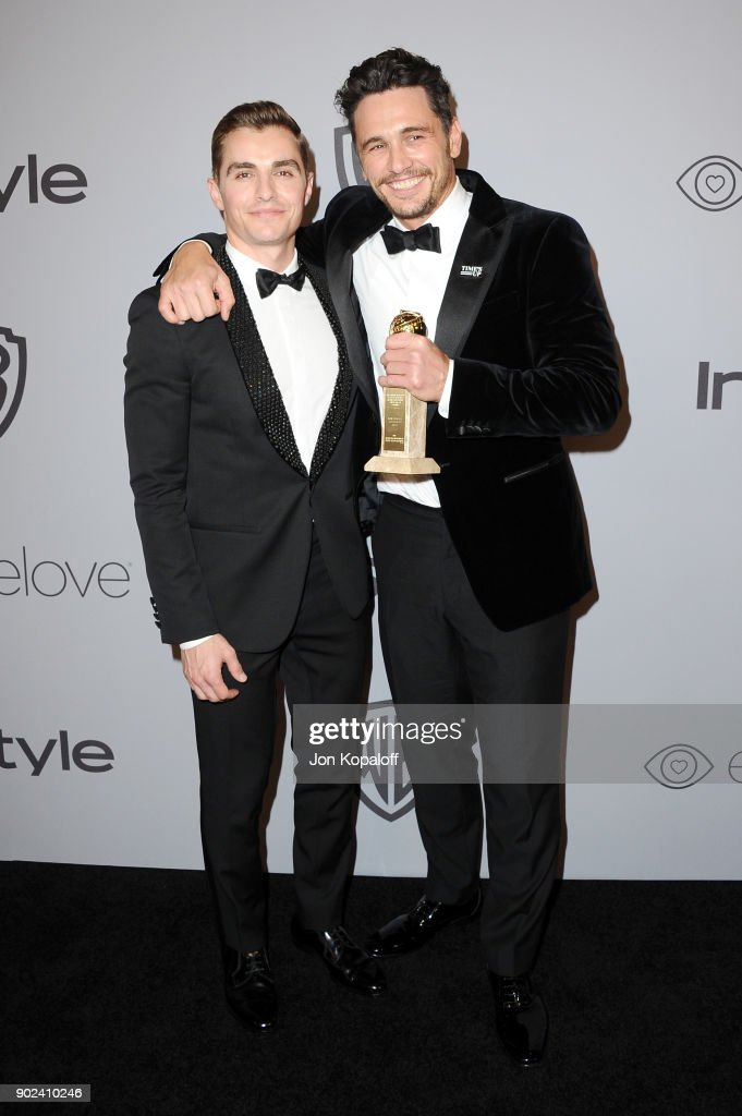Actor Dave Franco (L) and filmmaker-actor James Franco attends 19th Annual Post-Golden Globes Party hosted by Warner Bros. Pictures and InStyle at The Beverly Hilton Hotel on January 7, 2018 in Beverly Hills, California.