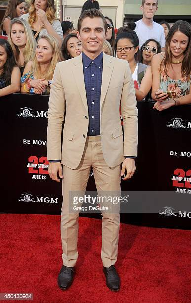 Actor Dave Franco arrives at the Los Angeles premiere of 22 Jump Street at Regency Village Theatre on June 10 2014 in Westwood California