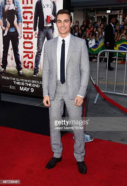 Actor Dave Franco attends Universal Pictures' 'Neighbors' premiere at Regency Village Theatre on April 28 2014 in Westwood California