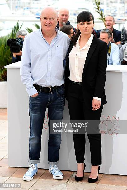 Actor Dave Johns and actress Hayley Squires attend the 'I Daniel Black ' photocall during the 69th annual Cannes Film Festival at the Palais des...