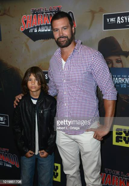Actor Dave Sheridan arrives for the Premiere Of The Asylum And Syfy's 'The Last Sharknado It's About Time' held at Cinemark Playa Vista on August 19...