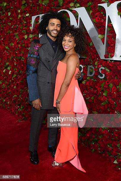 Actor Daveed Diggs and Jalene Goodwin attend the 70th Annual Tony Awards at The Beacon Theatre on June 12 2016 in New York City