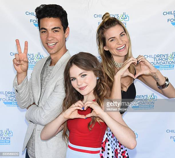 Actor Davi Santos actress Chiara Aurelia and fashion blogger Rachel McCord at Kids Fashions For NF Heroes For A Heart Cure on May 22 2016 in Los...