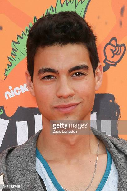 Actor Davi Santos arrives at the Nickelodeon Kids' Choice Sports Awards 2016 at the UCLA's Pauley Pavilion on July 14 2016 in Westwood California