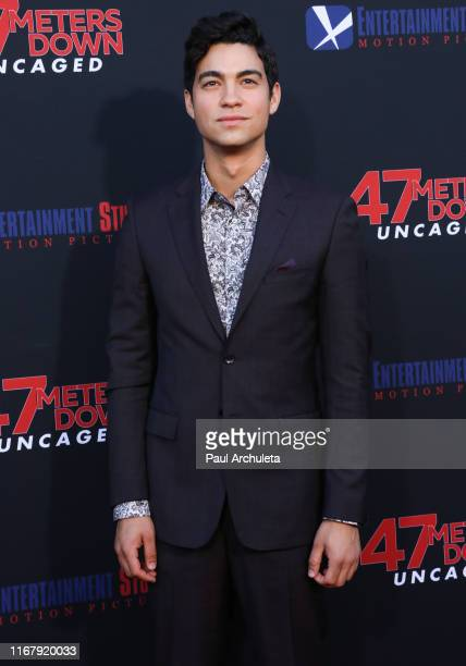 Actor Davi Santos attends the LA premiere of 47 Meters Down Uncaged the at Regency Village Theatre on August 13 2019 in Westwood California