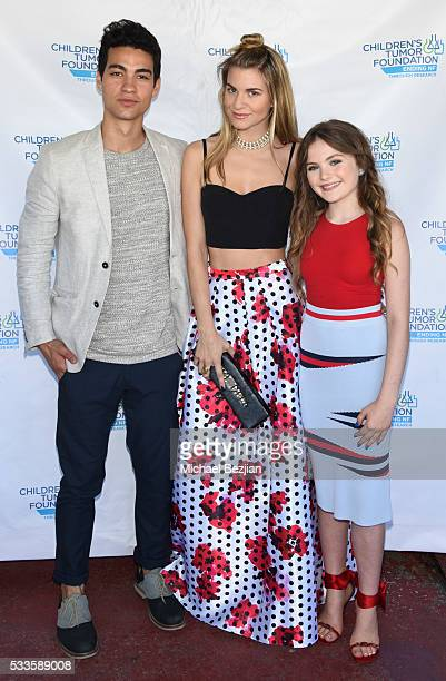 Actor Davi Santos fashion blogger Rachel McCord and actress Chiara Aurelia at Kids Fashions For NF Heroes For A Heart Cure on May 22 2016 in Los...
