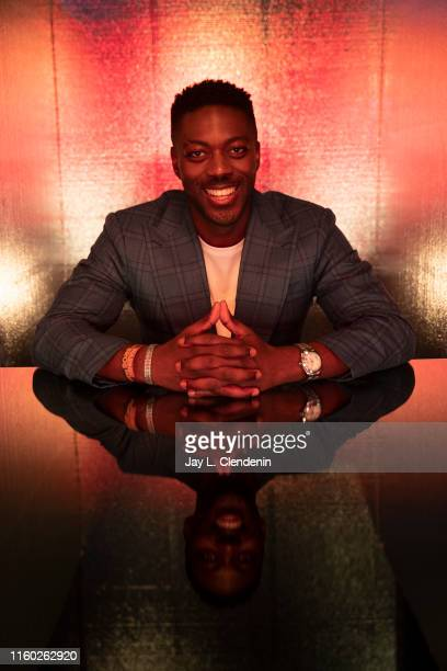 Actor David Ajala of 'Star Trek Discovery' is photographed for Los Angeles Times at ComicCon International on July 20 2019 in San Diego California...