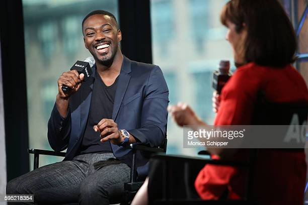 Actor David Ajala speaks with Donna Freydkin at AOL Build Presents David Ajala discussing The USA Network's Falling Water at AOL HQ on August 25 2016...
