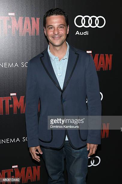 Actor David Alan Basche attends Marvel's screening of AntMan hosted by The Cinema Society and Audi at SVA Theater on July 13 2015 in New York City