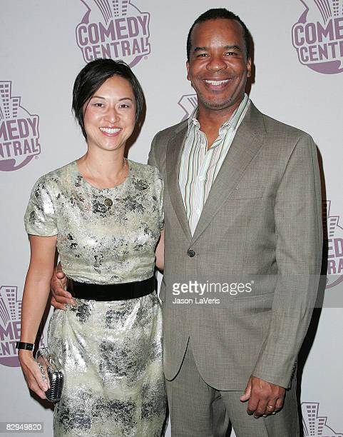 Actor David Alan Grier and his wife Christine Y Kim attend Comedy Central's Emmy after party at STK on September 21 2008 in West Hollywood California