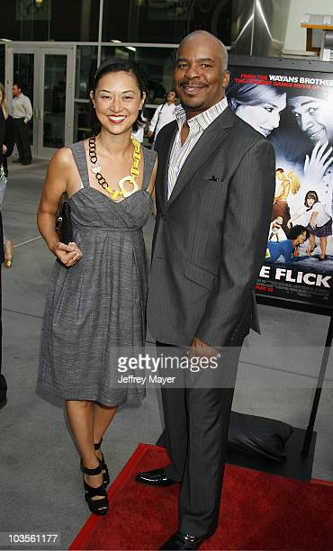 Actor David Alan Grier and wife Christine Y Kim arrive at the Los Angeles premiere of Dance Flick at ArcLight Hollywood on May 20 2009 in Hollywood...