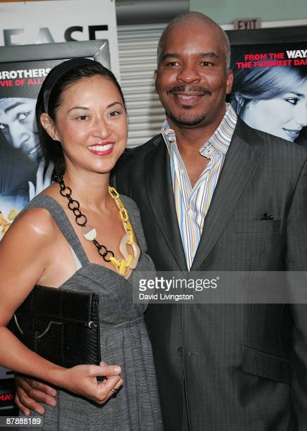 Actor David Alan Grier and wife Christine Y Kim attend the premiere of Paramount Pictures' Dance Flick at ArcLight Cinemas on May 20 2009 in...