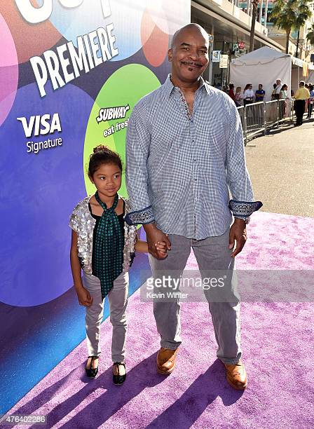 Actor David Allen Greer and Luisa Danbi GrierKim attend the Los Angeles premiere of DisneyPixar's Inside Out at the El Capitan Theatre on June 8 2015...