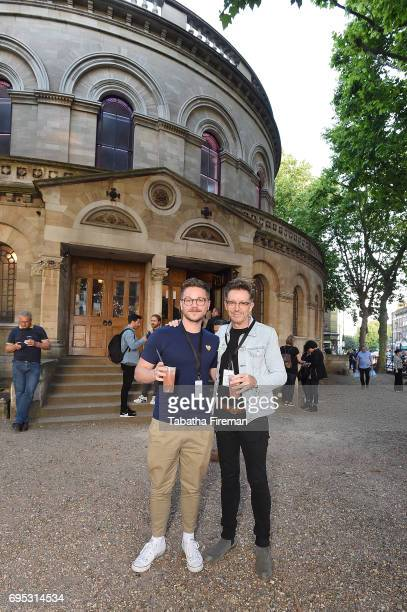 Actor David Ames and Paul McDonald attend Alison Moyet's intimate gig at Round Chapel Hackney for Amazon Prime Live Events on June 12 2017 in London...