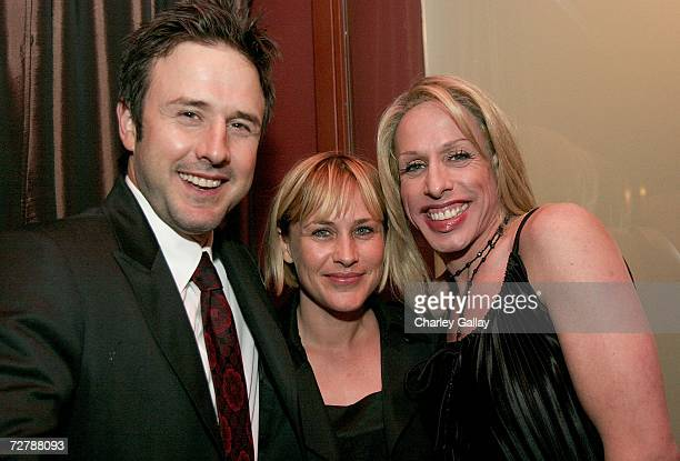 Actor David Arquette actress Patricia Arquette and actor Alexis Arquette at the after party for the FX Network's premiere screening of 'Dirt' at...