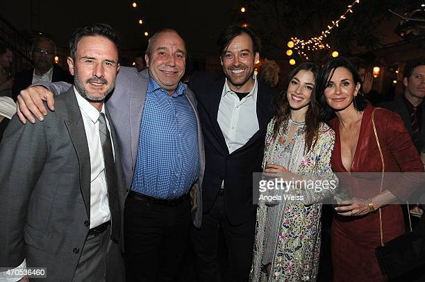 Actor David Arquette Anchor Bay President Bill Clark and Gabe Cowan actress Olivia Thirlby and director Courteney Cox attend the Los Angeles Special...