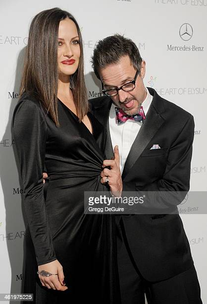 Actor David Arquette and Christina McLarty arrive at The Art of Elysium's 7th Annual HEAVEN Gala at the Guerin Pavilion at the Skirball Cultural...