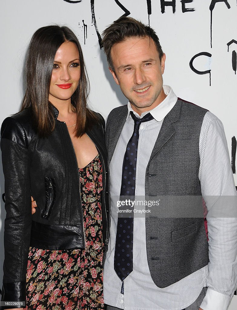 Actor David Arquette and Christina McLarty attends The Art of Elysium's 6th Annual Pieces Of Heaven Charity Art Auction held at Ace Museum on February 20, 2013 in Los Angeles, California.