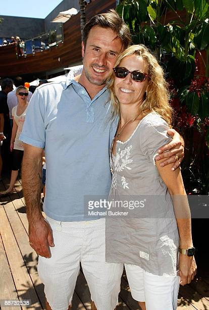 Actor David Arquette and musician Sheryl Crow attend the EB Medical Research Foundation picnic presented by Sinupret for Kids and Yogen Fruz held at...