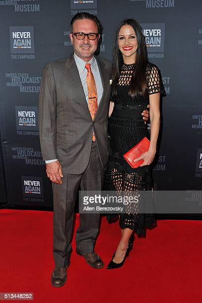 Actor David Arquette and wife Christina McLarty attend the 2016 Los Angeles Dinner What You Do Matters presented by the United States Holocaust...