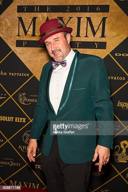 Actor David Arquette arrives at Maxim Magazine And Bootsy Bellows Super Bowl Party 2016 at Treasure Island on February 6 2016 in San Francisco...