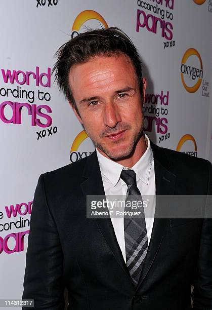 Actor David Arquette arrives at premiere of Oxygen's New DocuSeries The World According To Paris at Tropicana Bar at The Hollywood Roosevelt on May...